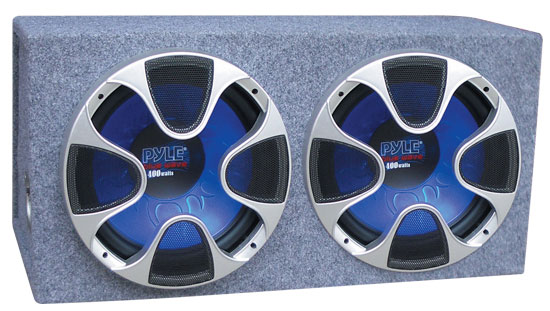 Pyle - PLBS122 , Car Audio , Subwoofer Enclosures , Bandpass Systems , Dual 12'' 1000 Watt Bass Box Speaker system