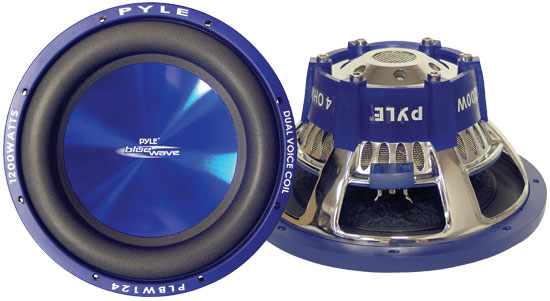Pyle - PLBW124 , On the Road , Vehicle Subwoofers , 12'' 1200 Watt DVC Subwoofer