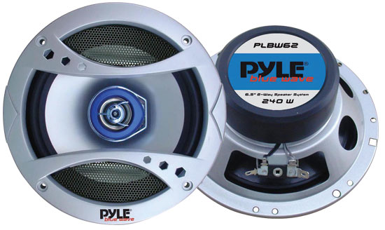 Pyle - PLBW62 , Car Audio , Car Speakers , 6.5'' Car Speakers , 6.5'' 300 Watt Two-Way Speaker w/Blue LED Light