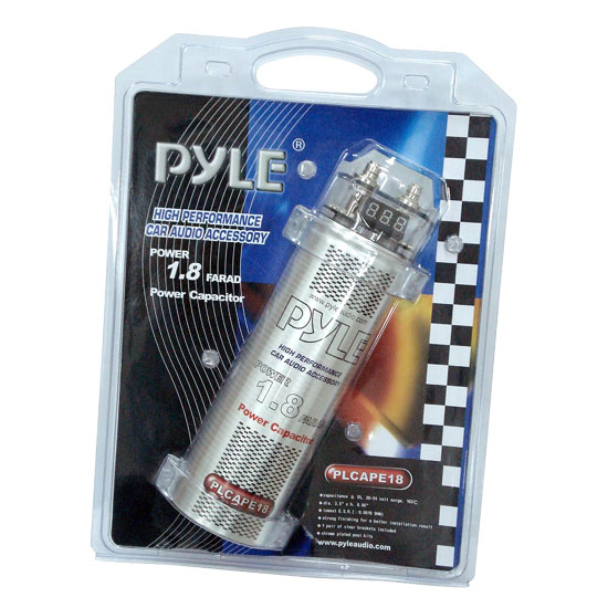 Pyle - PLCAPE18 , Car Audio , Power Capacitors , 1 to 2 Farad , 1.8 Farad Digital Power Capacitor