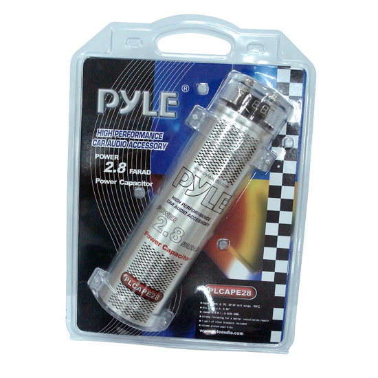 Pyle - PLCAPE28 , Car Audio , Power Capacitors , 2 to 3 Farad , 2.8 Farad Digital Power Capacitor