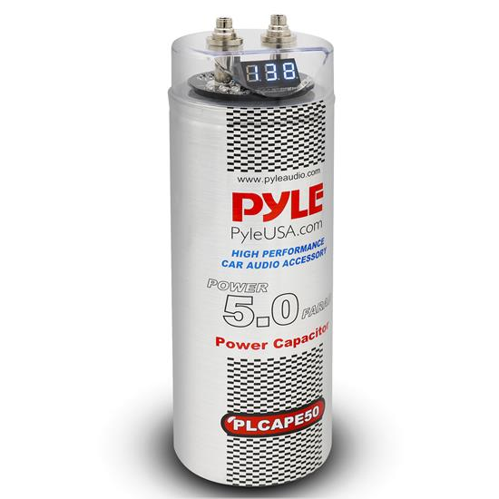 Pyle - PLCAPE50 , Car Audio , Power Capacitors , 5 to 10 Farad , 5.0 Farad Digital Power Capacitor