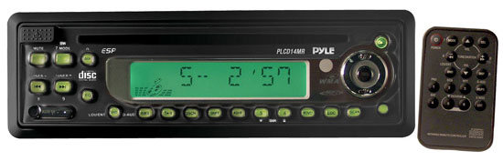 Pyle - PLCD13MR , Marine Audio & Video , CD / MP3 Receivers , AM/FM-MPX In-Dash Marine CD/MP3 Player w/Full Face Detachable Panel