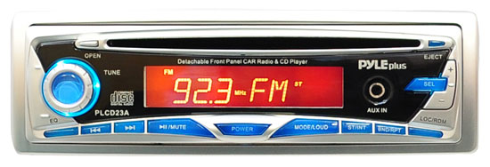 Pyle - PLCD23A , On the Road , Headunits - Stereo Receivers , AM/FM-MPX Manual Tune Radio CD Player w/ Detachable Face