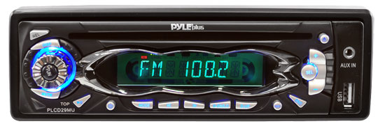 Pyle - PLCD29MU , On the Road , Headunits - Stereo Receivers , AM/FM Receiver Auto Loading MP3 Player w/USB Input