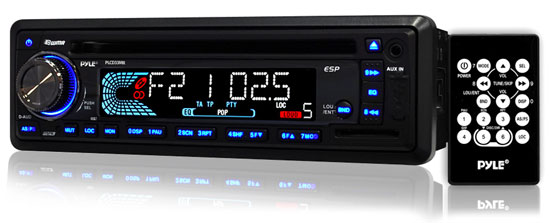 Pyle - PLCD33MR , On the Road , Headunits - Receivers , AM/FM-MPX IN-Dash Marine CD/MP3 Player/USB & SD Card Function (Black Unit Color)