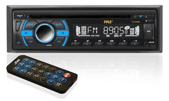 Pyle - PLCD41MU , On the Road , Headunits - Receivers , In-Dash Receiver w/ MP3 Playback, AM/FM-MPX Radio, CD Player & USB/SD/AUX Inputs