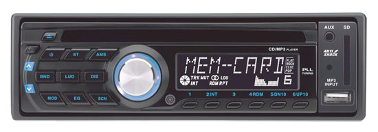 Pyle - PLCD42M , On the Road , Headunits - Receivers , AM/FM-MPX Anti-Shock CD/USB/SD/MP3 Player with AUX, Input & Remote Control