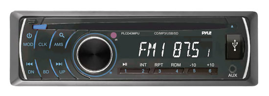 Pyle - PLCD43MPU , On the Road , Headunits - Stereo Receivers , AM/FM-MPX MP3 Player w/USB/SD Input