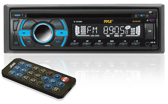 Pyle - PLCD51BT , On the Road , Headunits - Receivers , In-Dash Bluetooth Receiver with USB/SD Memory Slots, AUX Input for MP3 Playback & AM/FM Radio