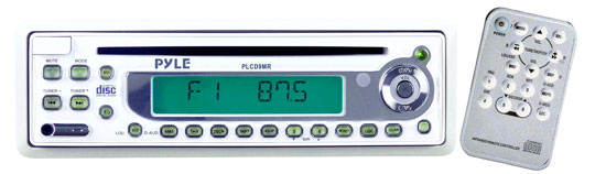 Pyle - PLCD9MR , Marine Audio & Video , CD / MP3 Receivers , AM/FM-MPX In-Dash Marine CD Player w/Full Face Detachable Panel