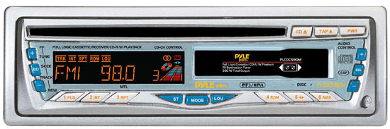 Pyle - PLCDCS90M , On the Road , Headunits - Receivers , AM/FM-CD/MP3/WMA/CDRW- Cassette Radio With Detachable Face