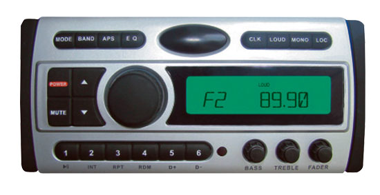 Pyle - PLCDMR97 , On the Road , Headunits - Receivers , 1.5-Din AM/FM Receiver / CD/CDR/MP3/AM-FM Marine Grade Player