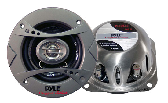 Pyle - PLCH42 , On the Road , Vehicle Speakers , 4'' 140 Watt 2-Way Speaker System