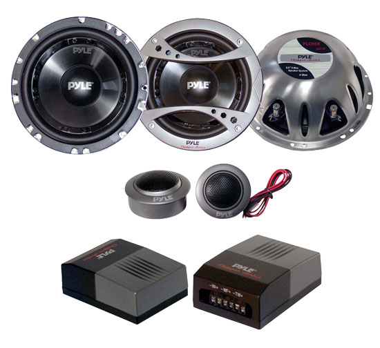 Pyle - PLCH6K , Car Audio , Car Speakers , 6.5'' Car Speakers , 6.5'' 300 Watt 2-Way Component Speaker System
