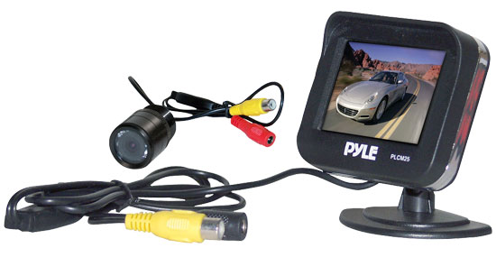 Pyle - PLCM25 , On the Road , Backup Rearview Parking Cameras , 2.5'' TFT LCD Monitor/Night Vision Rear View Backup Camera