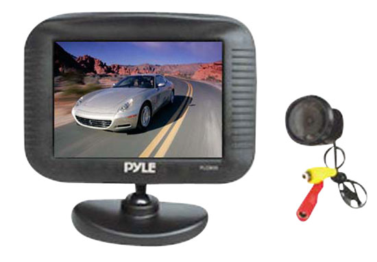 Pyle - PLCM35 , Mobile Video / Navigations , Back up Camera & Rear View Mirrors w/ Monitors , 3.5'' TFT LCD Monitor/Night Vision Rear View and Backup Camera