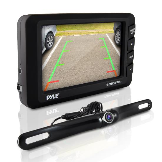 Pyle - PLCM4375WIR , On the Road , Rearview Backup Cameras - Dash Cams , Wireless Rear View Back-up Camera & Monitor Parking/Reverse Assist System, 4.3'' Display, Distance Scale Lines, Night Vision Waterproof Cam, Swivel Angle Adjustable