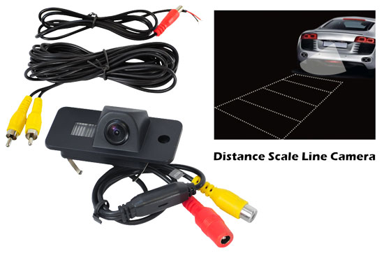 Pyle - PLCMAUDI , On the Road , Backup Rearview Parking Cameras , Audi Vehicle Specific Infrared Rear View Backup Camera with Distance Scale Line