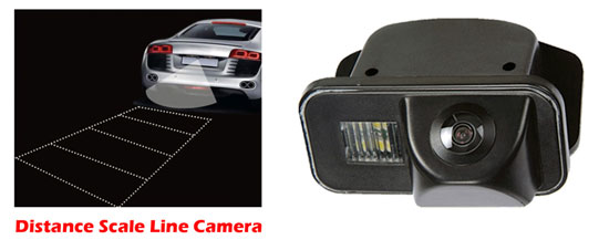 Pyle - PLCMCRLA , On the Road , Rearview Backup Cameras - Dash Cams , Toyota Corolla Vehicle Specific Infrared Rear View Backup Camera with Distance Scale Line