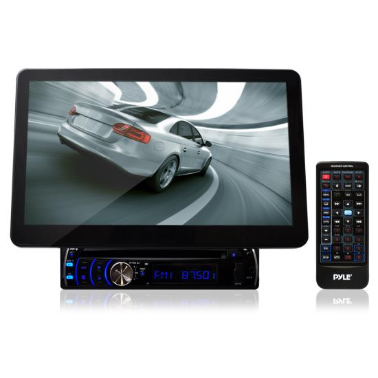 Pyle - PLD10BT , Mobile Video / Navigations , In-Dash DVD With Monitors , 10.1'' Motorized TFT/LCD Touch Screen Detachable Display Multimedia Disc/VCD/CD/MP3/CD-R/USB/AM/FM/RDS Receiver w/ Bluetooth System and AUX A/V Input For iPod/Smart Phones/MP3 Players