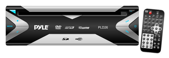 Pyle - PLD26 , Mobile Video / Navigations , Universal DVD Players , Universal Mount Multimedia Disc/VCD/CD/CDR/CDRW/MP3/USB/SD Reader