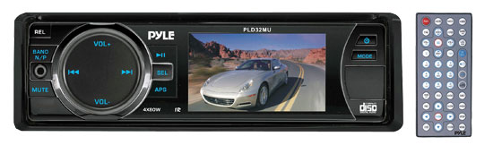 Pyle - PLD32MU , Mobile Video / Navigations , In-Dash DVD With Monitors , 3'' TFT/LCD Display In Dash Multimedia Disc/VCD/MP3/CDR/USB/MP4 Player & AM/FM Receiver