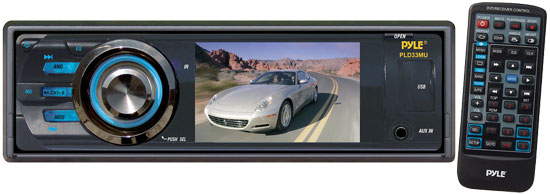 Pyle - PLD33MU , On the Road , Headunits - Stereo Receivers , 3'' TFT/LCD Monitor Multimedia Disc/VMP3/MP4R/SD/USB Player & AM/FM Receiver