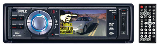 Pyle - RBPLD3MU , Mobile Video / Navigations , In-Dash Multimedia System , 3'' TFT Touch Screen DVD/VCD/MP3/MPEG4/CDR/USB Player & AM/FM Receiver