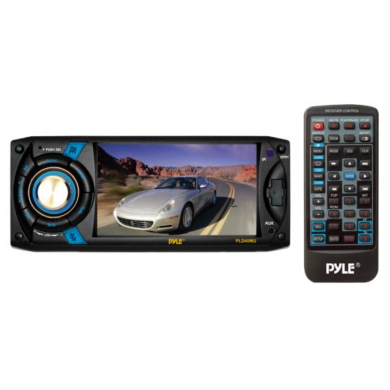 Pyle - PLD40MU , On the Road , Headunits - Stereo Receivers , 4.3'' Touch Screen TFT/LCD Monitor w/ Digital Video Player/MP3/USB/SD/AM/FM/RDS Player