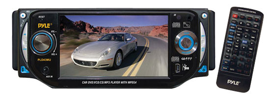 Pyle - PLD43MU , On the Road , Headunits - Stereo Receivers , 4.3'' TFT Touch Screen Multimedia Disc/VMP3-R/USB Player & AM/FM Receiver