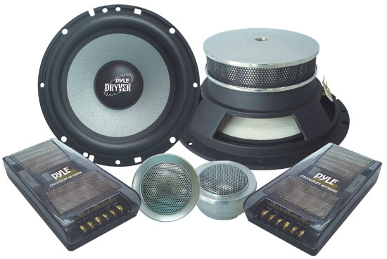 Pyle - PLD6C , On the Road , Vehicle Speakers , 6.5'' 400 Watt 2-Way Custom Component System