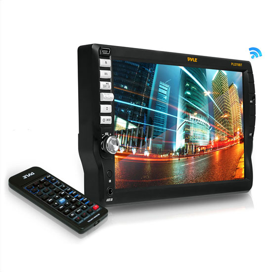 Pyle - PLD70BT , On the Road , Headunits - Stereo Receivers , 7'' TFT Touch Screen Multimedia Disc/VMP3-R/USB/AM/FM/RDS Receiver & Bluetooth System