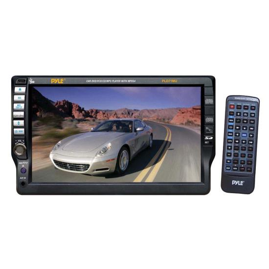 Pyle - PLD71MU , On the Road , Headunits - Stereo Receivers , 7'' TFT Touch Screen Multimedia Disc/MP3-R/USB/AM/FM/RDS Receiver