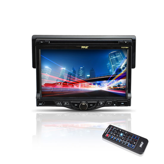 Pyle - PLD75MU , On the Road , Headunits - Stereo Receivers , 7'' Touch Screen TFT/LCD Monitor w/Digital Video Player/MP3/USB/SD Slot/AM/FM/RDS Player