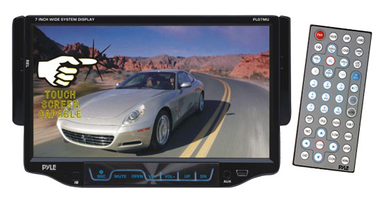 Pyle - PLD7MU , On the Road , Headunits - Stereo Receivers , 7'' Single DIN TFT Touch Screen Multimedia Disc/MP3/MP4-R/USB/SD/AM/FM/RDS Receiver