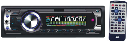 Pyle - PLD96MU , On the Road , Headunits - Receivers , AM/FM-MPX Multimedia Disc/VCD/SVCD/CD/MP3/MP4 Player Receiver w/USB Interface & SD/MMC Card Reader