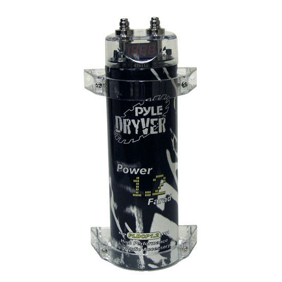 Pyle - PLDCP1.2 , Car Audio , Power Capacitors , 1 to 2 Farad , 1.2 Farad Digital Power Capacitor