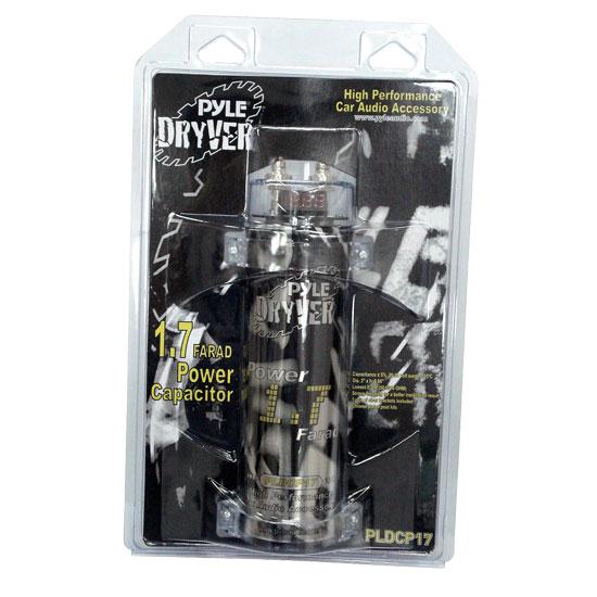 Pyle - PLDCP17 , On the Road , Capacitors , 1.7 Farad Digital Power Capacitor