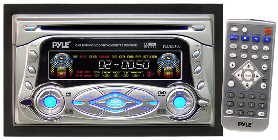 Pyle - PLDCS400 , On the Road , Headunits - Stereo Receivers , Double-Din AM-FM-MPX Multimedia Disc Player & Cassette Deck