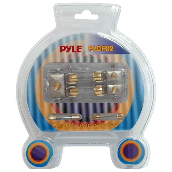 Pyle - PLDFU2 , Car Audio , Audio / Video Cables And Accessories , Fuses Blocks and Panels , Waterproof Dual 40 Amp Fuse Holder