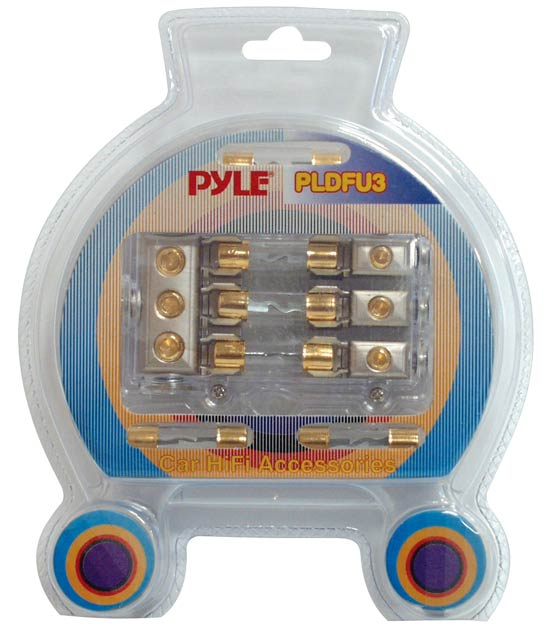Pyle - PLDFU3 , Car Audio , Audio / Video Cables And Accessories , Fuses Blocks and Panels , Waterproof Triple 40 Amp Fuse Holder