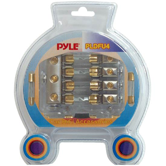 Pyle - PLDFU4 , Car Audio , Audio / Video Cables And Accessories , Fuses Blocks and Panels , Waterproof Quad 40 Amp Fuse Holder