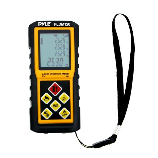 Pyle - UPLDM180 , Tools and Meters , Distance - Rotation , 180 Ft. Handheld Laser Distance Meter with Calculation, Tool Backlit LCD Display, Direct / Indirect, Volume & Area Measuring