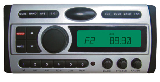 Pyle - PLDMR87 , On the Road , Headunits - Receivers , 1.5-Din AM/FM Receiver / CD/Multimedia Disc/MP3/AM-FM Marine Grade Player