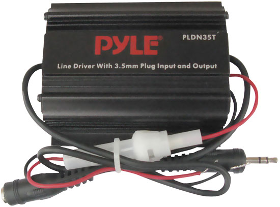 Pyle - PLDN35T , On the Road , iPod/MP3 Audio Interface - Ground Loop Isolators , 3.5mm / 1/8'' To 3.5mm / 1/8'' Stereo Audio Ground Loop Isolator/ Audio Line Driver