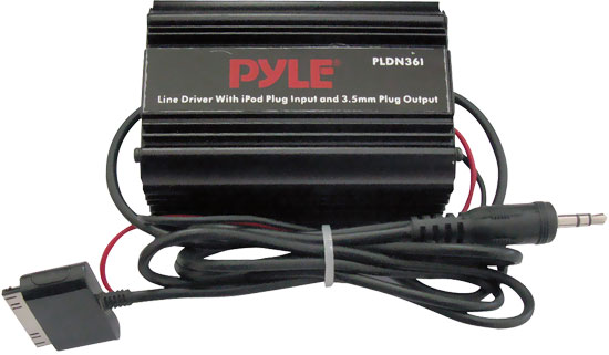 Pyle - PLDN36I , On the Road , iPod/MP3 Audio Interface - Ground Loop Isolators , Ipod Direct To 3.5mm / 1/8'' Stereo Audio Ground Loop Isolator/ Audio Line Driver