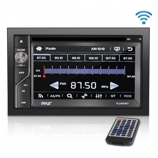 Pyle - AZPLDN63BT , On the Road , Headunits - Stereo Receivers , 6.5'' Double DIN In-Dash Touch Screen TFT/LCD Monitor w/Multimedia Disc/MP3/MP4-R/USB/Micro SD Card Slot, AM/FM, Bluetooth Receiver