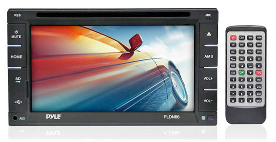 Pyle - PLDN66I , Mobile Video / Navigations , In-Dash DVD With Monitors , 6.5'' Double DIN In-Dash Touch Screen TFT/LCD Monitor w/Multimedia Disc/CD/MP3/MP4/CD-R/USB/SD-MMC Card Slot AM/FM