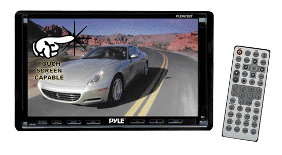 Pyle - PLDN72BT , Mobile Video / Navigations , In-Dash DVD Players , 7'' DOUBLE DIN TFT TOUCH SCREEN Multimedia Disc/VCD/CD/MP3/MP4/CD-R/USB/SD-MMC CARD SLOT/AM/FM/BLUETOOTH